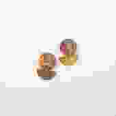 Ikat - Small Marbled Phoebe Stud
