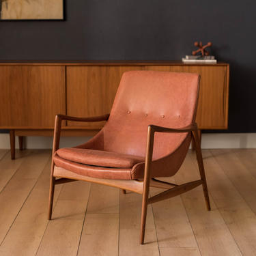 Vintage Leather and Teak Lounge Chair by Rolf Rastad & Adolf Relling by MidcenturyMaddist