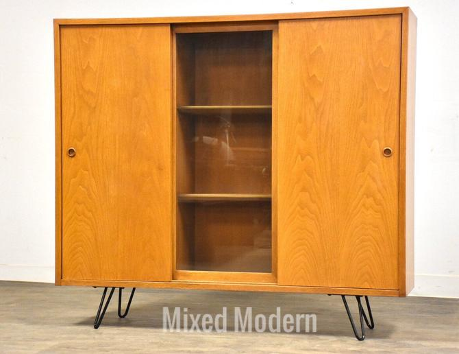 Bleached Walnut MCM Bookcase by mixedmodern1