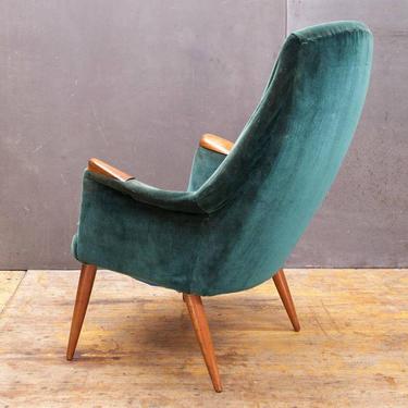 Mid-Century Lounge Chair Teak Gerhard Berg Hjelle Stole Vintage Danish Norway Scandinavian Modern Highback Papa Bear by BrainWashington