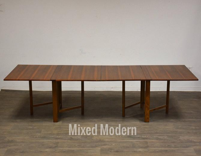 Bruno Mathsson Style Maria Extending Walnut Dining Table by mixedmodern1