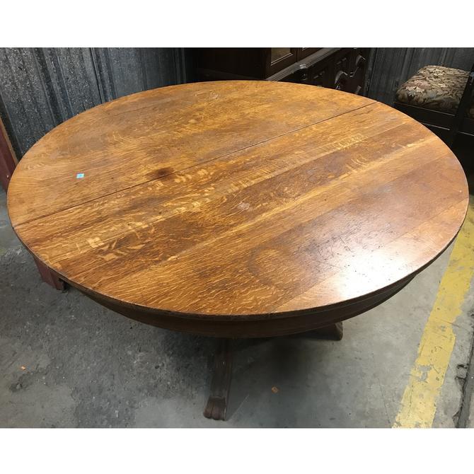 Vintage Oak Pedestal Table