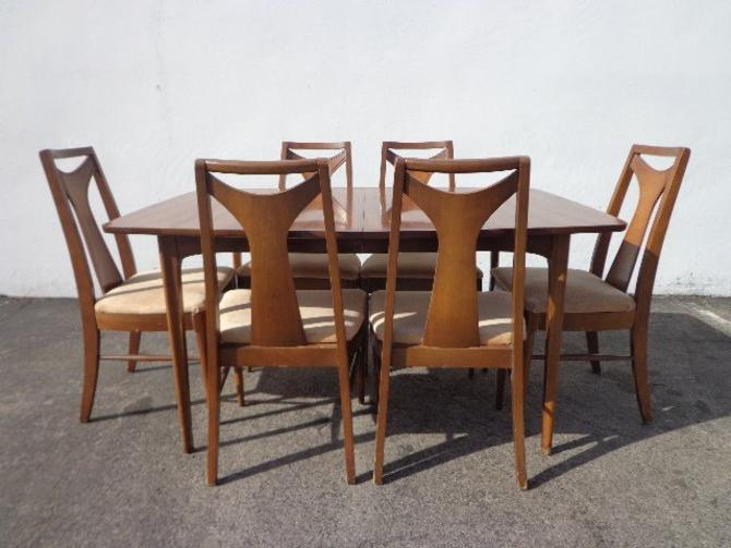 8pc Mid Century Modern Kent Coffey Perspecta Dining Table Chairs Set Danish Eames Chair Vintage Mad Men Retro Kitchen Seating Wood Furniture By Dejavudecors From Deja Vu Decors Of Los Angeles Ca