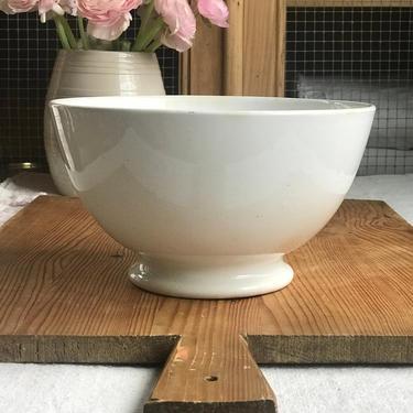 Beautiful huge ironstone antique Dutch cafe au lait bowl by Grainsacfrenchvintag