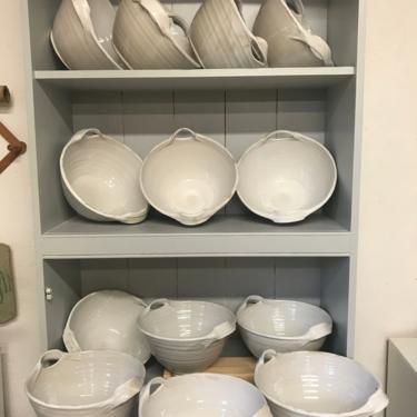 handmade ceramic serving bowls, ceramic bowl, white bowls, serving bowls, farmhouse pottery, pottery bowls with handles, bowl, pottery bowls by altheaspottery