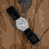Satin-strapped Diamond Watch c1918