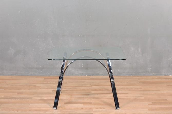 Chrome Arches Glass-Top Coffee Table – ONLINE ONLY