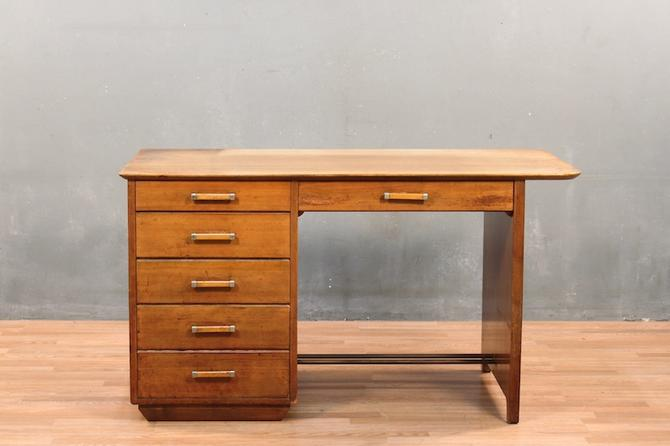 Johnson Mid Century 6-Drawer Executive Desk