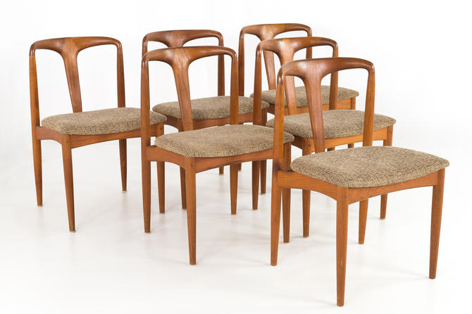 Johannes Andersen Juliane Style Mid Century Teak Dining Chairs - Set of 6 - mcm by ModernHill