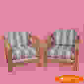 Pair of Rattan Club Chairs
