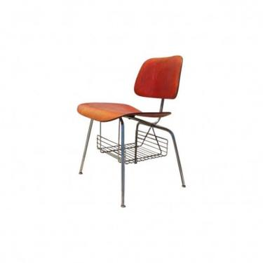 Rare DCM Side Chair with Magazine Rack by Charles & Ray Eames for Herman Miller