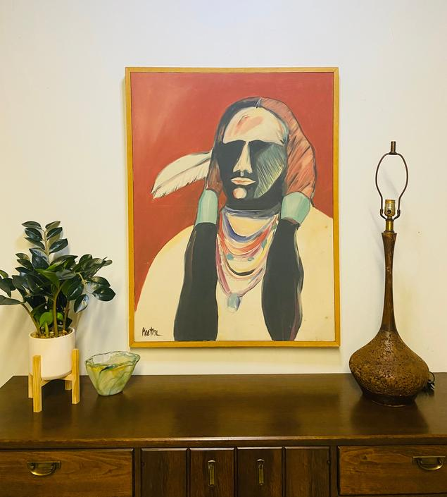 Original Keeton Oil Painting, Southwestern Art, Vintage Art, Original Vintage Painting, Wall Decor by VivaLaVintagedotTX