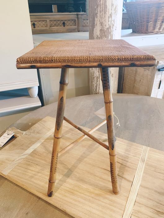 Midcentury Bamboo Stand/Side Table