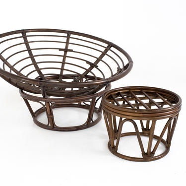 Papasan Cane Chair and Ottoman by ModernHill