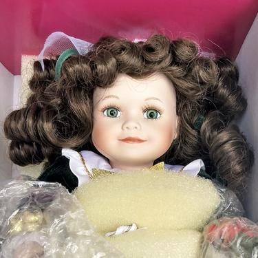 Porcelain Doll, Marie Osmond Tiny Tot Collectible Doll, Christmas, Home Decor by 3GirlsAntiques