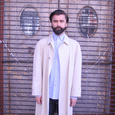 Vintage LONDON FOG Full Length Trench Coat | 80s Khaki  Brown Overcoat | Mens Large | 42 Reg | Tailored Raincoat | Knee Length | by HamletsVintage