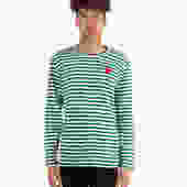 Play Red Heart Striped Long Sleeve T-Shirt