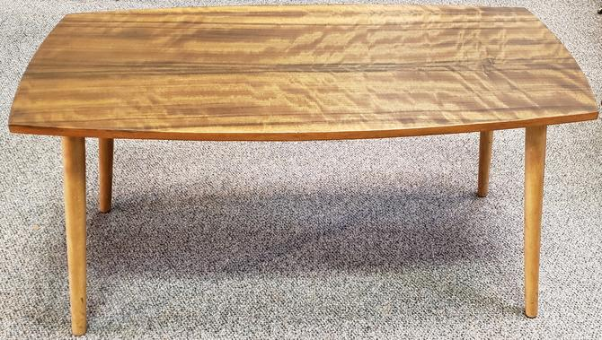 Item #R213 Rosewood & Maple Mid Modern Coffee Table c.1960s