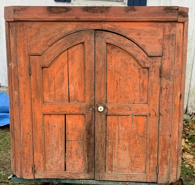 Early 19th century colonial kitchen corner cabinet by LazyCamel