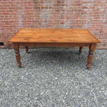 Antique English Reclaimed Pine Farm Table by LarkinsAtticHUDSONNY