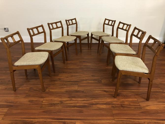 D-Scan Teak Dining Chairs Set of 8