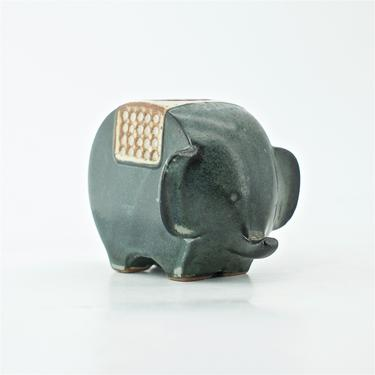 Stoneware Otagiri Japan Elephant Candleholder Vintage Mid-Century Figure sculpture by BrainWashington