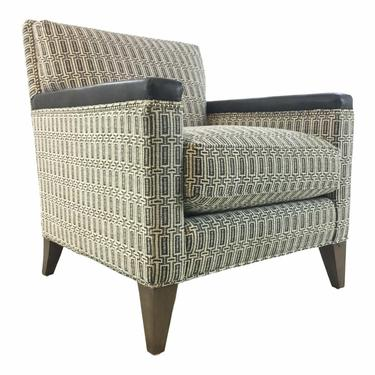 Hickory White Modern Black and White Club Chair 4234-01