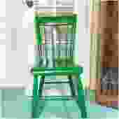 Antique Green Wood Farm Chair