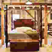 Custom Boston Federal Tall Post Bed in Mahogany. King Size