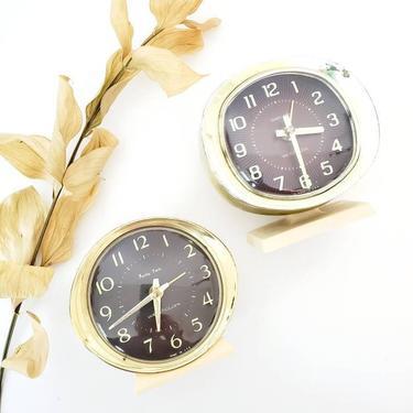 Mid Century Westclox Baby Ben Alarm Clock Set by pennyportland