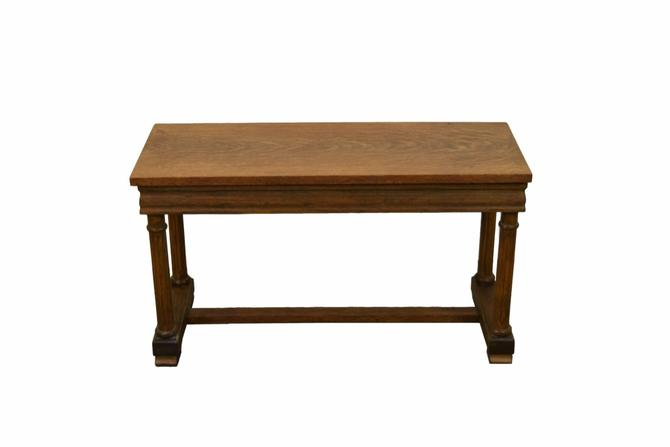Terrific Antique Golden Oak Piano Bench With Neo Classical Fluted Machost Co Dining Chair Design Ideas Machostcouk