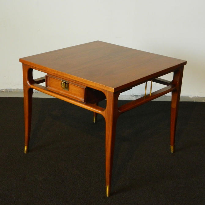 HA-00000 American Modern Walnut End Table