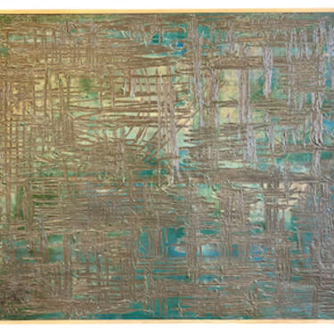 Green Abstract Painting, France, Early 20th Century