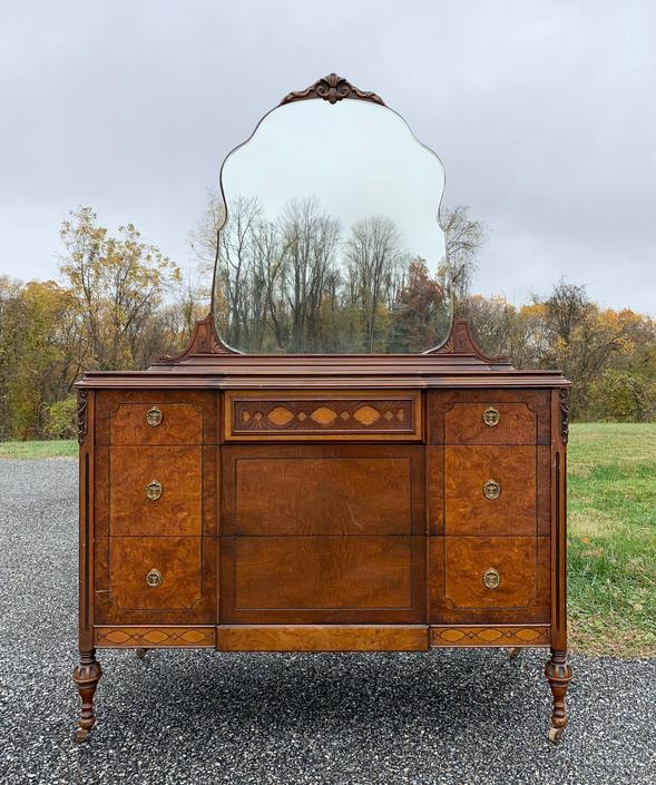 Antique Dresser with Mirror - Available to Customize by ForeverPinkVintage
