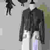 Vintage 1960's Polka Dot Dress / 60s Mod Secretary Dress L by SilhouettetsyVintage