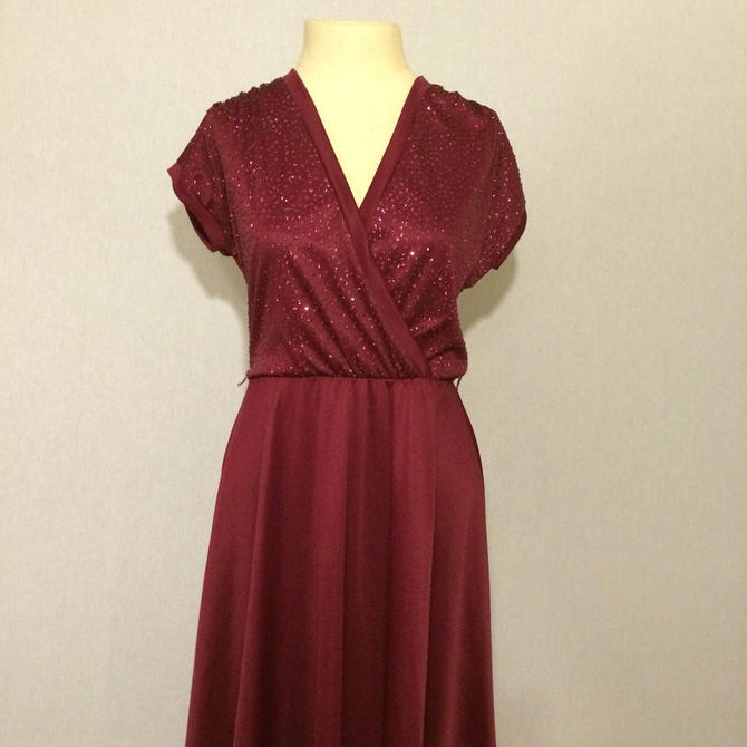 Vintage Glittered Casual 70s/80s Party Dress by citybone