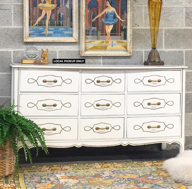 LOCAL PICKUP ONLY ———— Vintage Harmony House Dresser by RetrospectVintage215