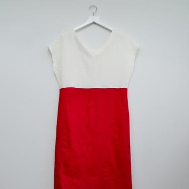Red linen dress by shopjoolee