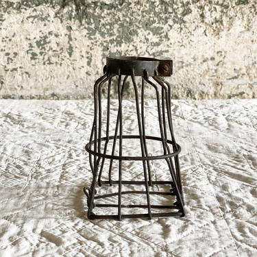 Industrial Trouble Light Cage Rustic Repurpose Lighting Decor by NorthGroveAntiques