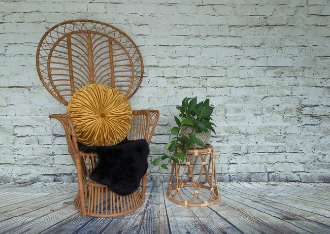 SHIPPING NOT FREE!!! Vintage Peacock Chair/ Fan Chair by WorldofWicker