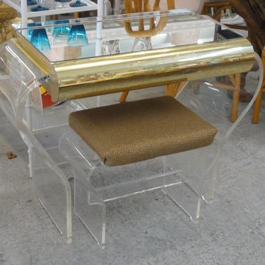 Glam Lucite Vanity and Stool