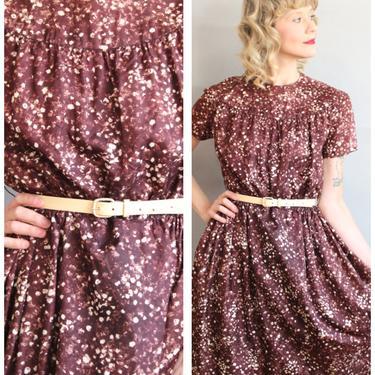 1960s Dress // Fall Solstice Constellation Dress // vintage 60s dress by dethrosevintage