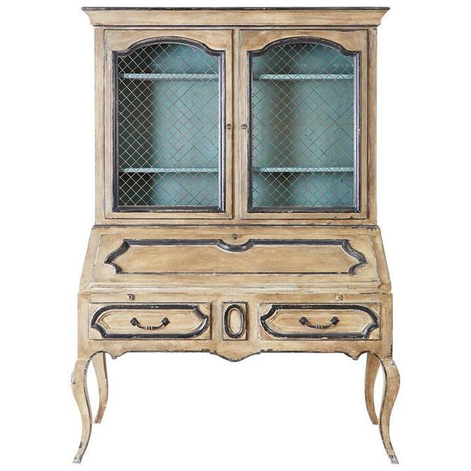 Swedish Gustavian Style Two-Part Secretaire Bookcase by ErinLaneEstate