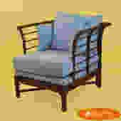 Rattan Club Chair by Windwood