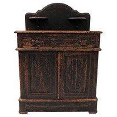 Antique French Pine Server, Shabby Chic French Server, French Rustic Server by BostonVintageStudio