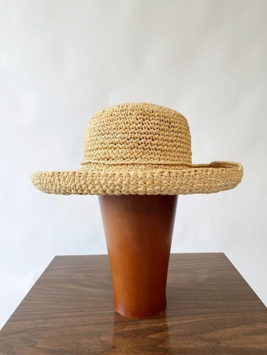 Woven Straw Hat w/ Cute Matching Tie