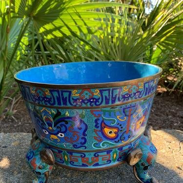 Chinese Cloisonné Planter by FunkyRelic