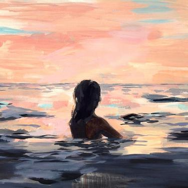 OVERSTOCK SALE . At Sunset . extra large wall art giclee print by ClareElsaesser