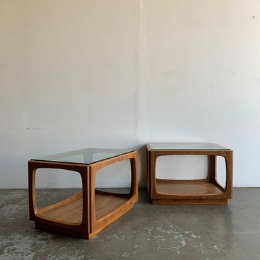 Mid Century Walnut Side Tables- Pair by VintageOnPoint