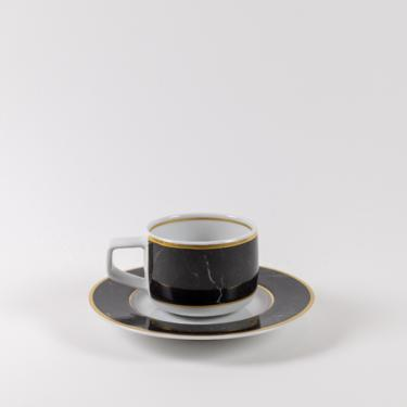 Modern Marble Espresso Cup + Saucer